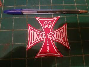 Mooneyes-Red-Iron-Cross-Sticker-Roth-Hot-Rod-Retro-Vintage-VW-Bug-Bus-Ford-3-5-034