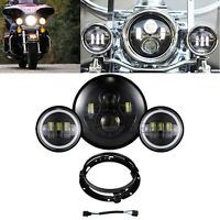7 Led Projector Headlight Passing Lights For Harley Davidson Touring Road King