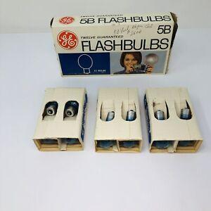 12 New Old Stock Vintage GE 5B Blue Flash Bulbs Flashbulbs 1 Dozen