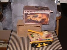 VINTAGE TIN BATTERY OPERATED ME 835 TANK FROM CHINA. WORKING W/ORIGINAL BOX!!