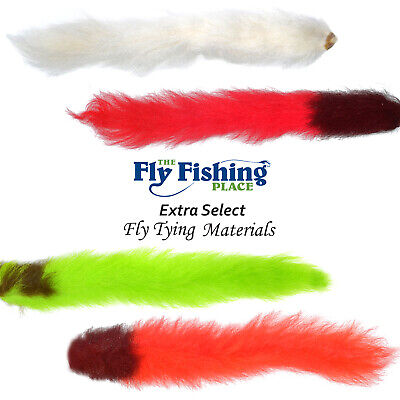 2 Natural White Calf or Kip Tails for Fly Tying