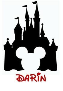 c9c27104d Image is loading DISNEY-CASTLE-MICKEY-MINNIE-MOUSE-PERSONALIZED-T-SHIRT-