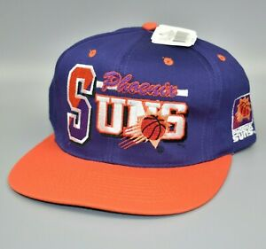 Phoenix-Suns-AJD-Script-NBA-Vintage-90-039-s-Adjustable-Snapback-Cap-Hat-NWT