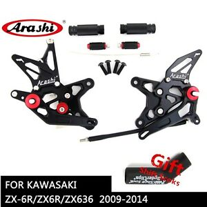 For kawasaki Ninja ZX-10R 2008-2010 Black Rear Rider Footrest Foot Pegs Bracket