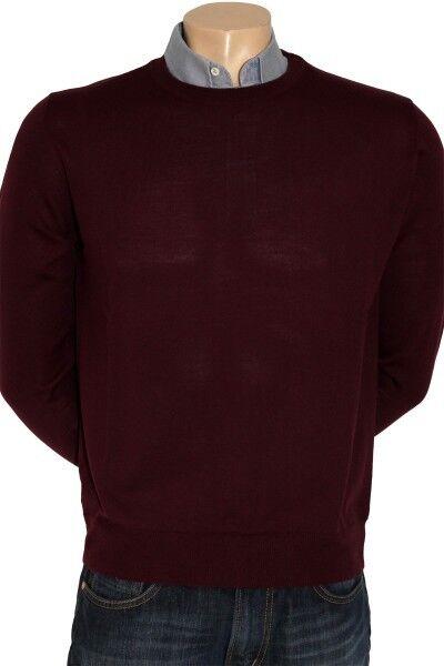 Enzo Lorenzo Merino Rundhals-Pullover in 6 Farben