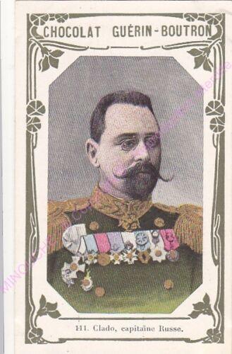 Chromo CHOCOLAT GUéRIN BOUTRON Clado Capitaine Russe n 111 //500