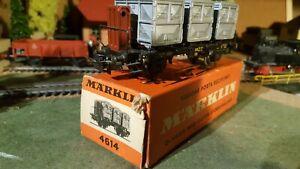 Marklin-echelle-ho-wagon-de-marchandise-porte-contenaire-ref-4614