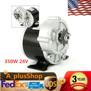 350W 24 V DC electric motor f bicycle bike gokart scooter MY1016z3 gear reducti
