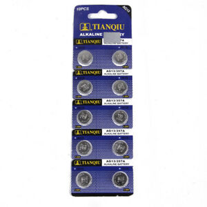 10PCS-AG13-LR44-SR44-L1154-357-A76-Button-Coin-Cell-Pack-Alkaline-Batteries