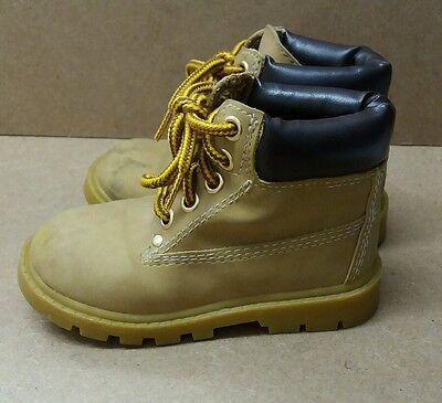 Chicos salir Brown botas talla 8 < J4695