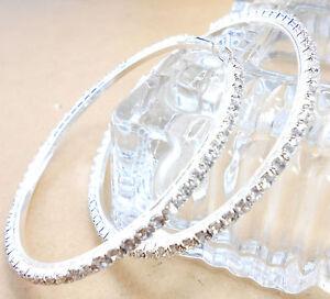 25MM-90MM-Loop-Crystal-925-Sterling-Silver-Plate-Circle-Hoop-Earring