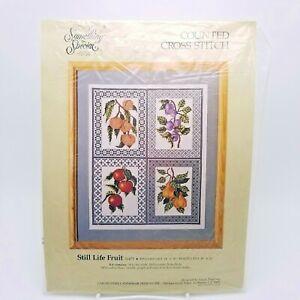 Counted Cross Stitch Kit Still Life Fruit Sampler Susan Treglown Candamar 50479