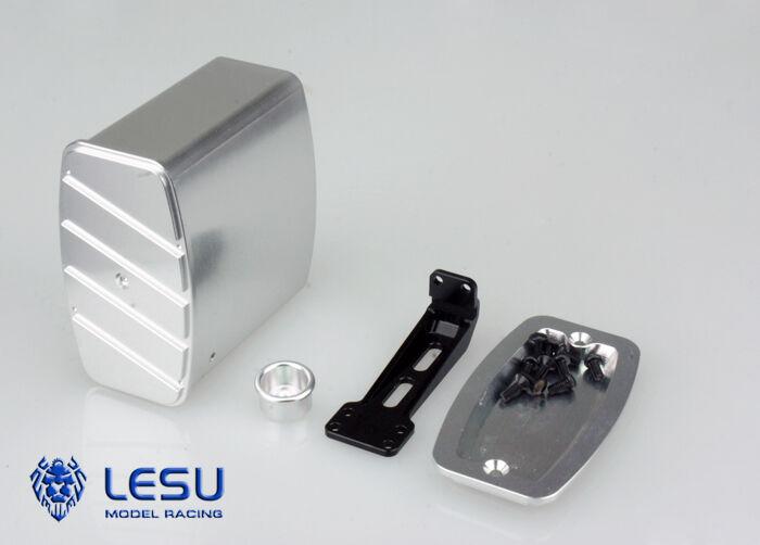 MARMITTA endschtuttidämpfer finta finta finta in tuttiuminio per TAMIYA CAMION 1 14 o altri, lesu 2ecfb5