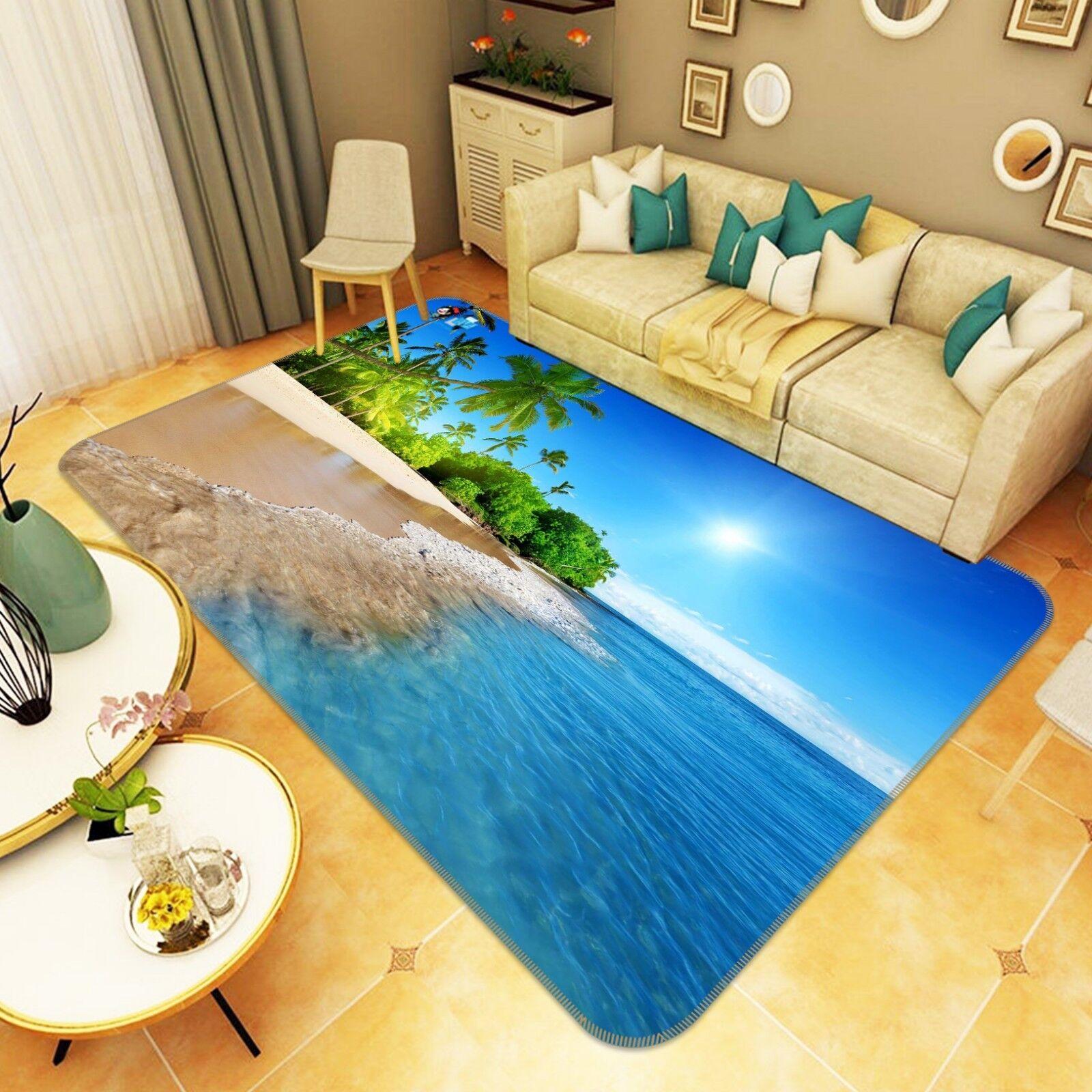 3D Beach Coco 88 Non Slip Rug Mat Room Mat Quality Elegant Photo Carpet AU