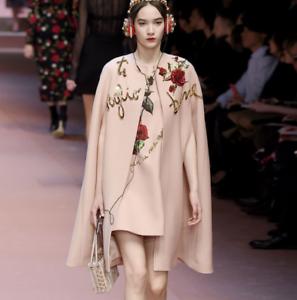 Elegent Womens Sequins pink 2 PCS Ponchos Coats Sleeveless Dress Suits Formal Q9