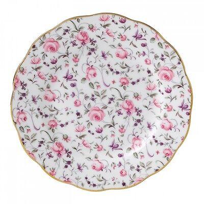 Royal Albert Rose Confetti Bread Plates, Set of 4