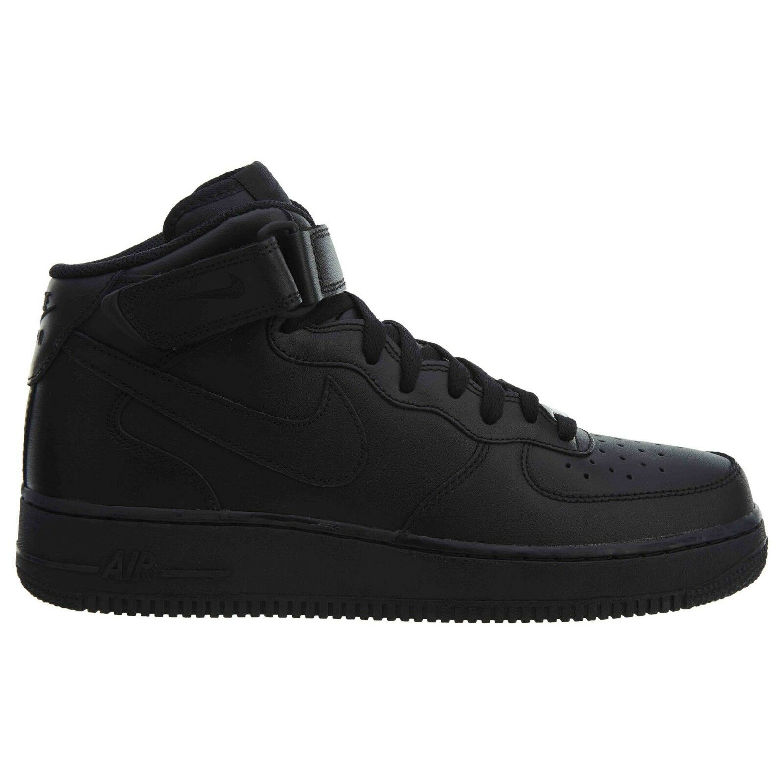 Nike Air Force 1 Mid '07 Mens 315123-001 Black Leather Athletic shoes Size 8