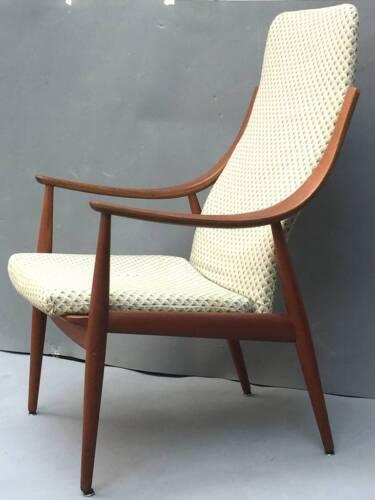 High back lounge chair FD 148 PETER HVIDT 1953 FRANCE & DAVERKOSEN danish Teak