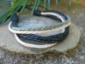 Leather Rope Multiturn Tribal Surf Hippie Bo-Ho Gothic Mens Ladies Bracelet