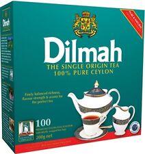 100% Pure Dilmah Ceylon Premium Quality 100 Tea Bags