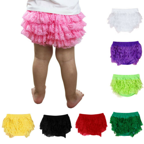 Toddler Infant Baby Unisex Lace Ruffle Bloomer Cotton Underwear Panty Diaper