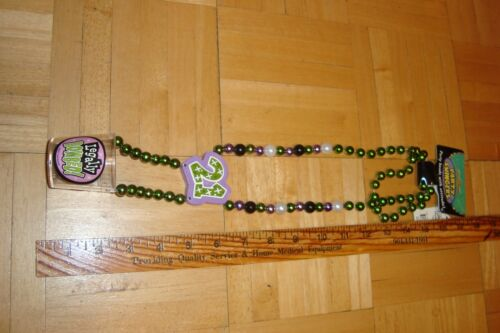 Party Swingers Necklace SHOT Glass Party Beads 21 LEGALLY BOMBED * NEW