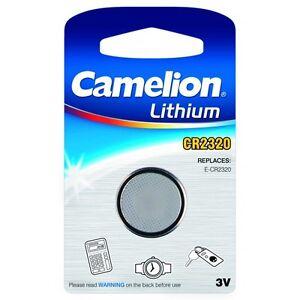 1 blister de 1 Pile bouton CR2320 3V Lithium Camelion
