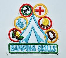 Girl Boy Cub Camping Outdoor Skills White Fun Patches Crests Badges Scouts Guide