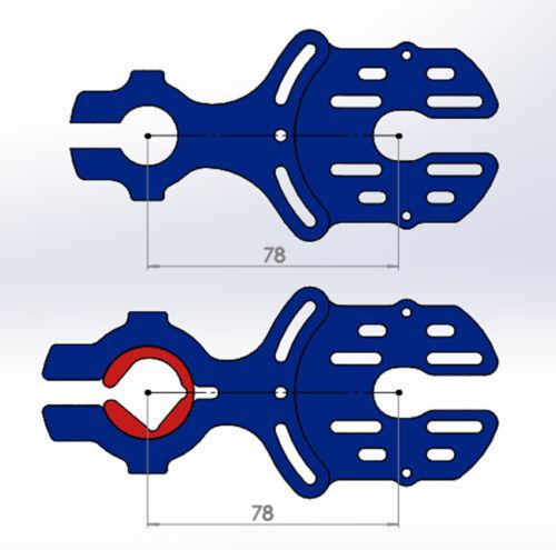 CNC motor mount for 50//63 motors  for DIY eskate electric skateboard