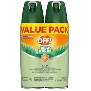 OFF! Deep Woods Insect Repellent VIII Dry, 4 oz. (2 ct) 8 Ounce, Multi