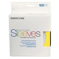 100 Memorex Multi Color Cd Dvd Paper Sleeves Window Flap