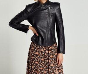 Zara Veste 227 3046 épaulettes New avec cuir en nRwWnTOUq