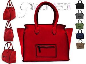 Borsa-spalla-mano-donna-grande-Bag-NEOPRENE-shopping-my-portofino-baule-nuova