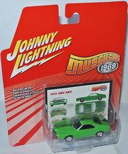 Musclecars 1969 - 1969 AMC AMX - lime green - 1:64 Johnny Lightning