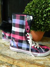 US Polo Pink Purple & Black Faux Fur High Top Sneaker Shoes Size 7 Med