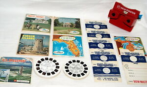 Vtg-View-Master-Lot-Viewer-38-Reels-Sawyers-Tour-Booklets-Travel-Disney-Space