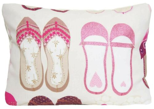 Chaussures Housse de coussin HARLEQUIN Tissu Twinkle Toes Rose Argent Or Rectangle
