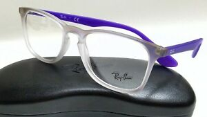 ff894eafdb New Authentic RAY BAN RB7074 5600 Violet Gradient Rubber White 50mm ...