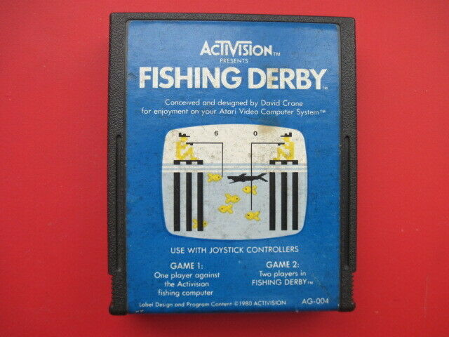 Fishing Derby Atari 2600 Activision Game *Cleaned & Tested*