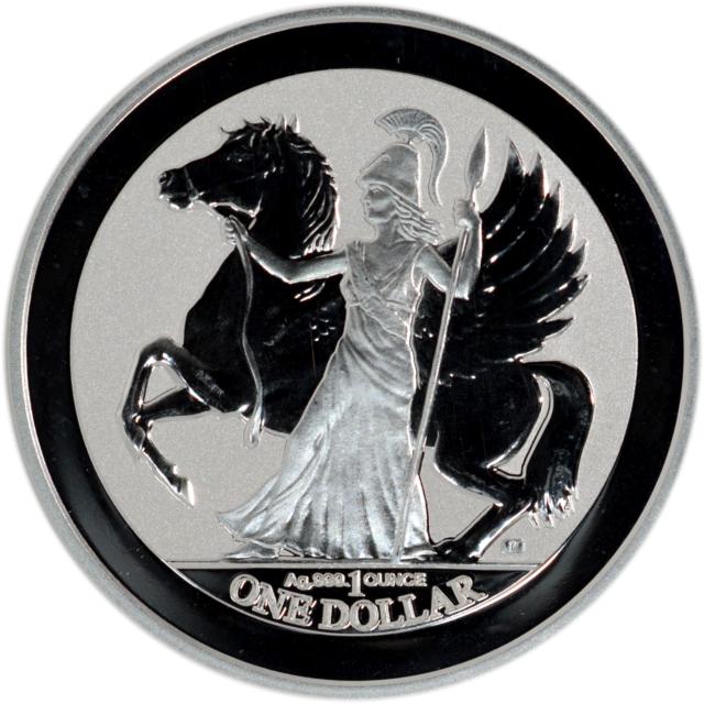 2017 British Virgin Islands 1 oz Silver Pegasus Reverse Proof