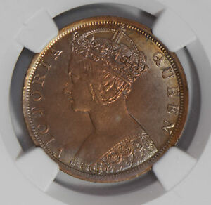 Hong-Kong-1901-Cent-NGC-UNC-gold-toning-lustrous-gothic-style-NG0719-combine-shi