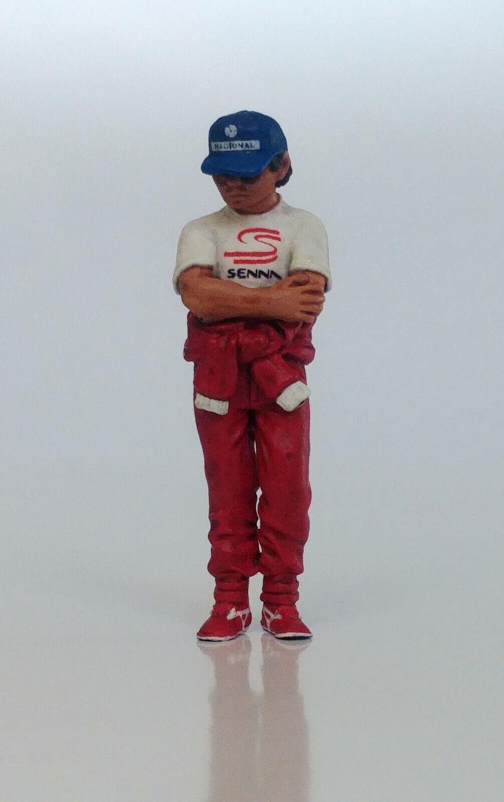 1 43 Ayrton Senna Marlboro McLaren Estatuilla Figura de Pie 1989 1990 1991 1993