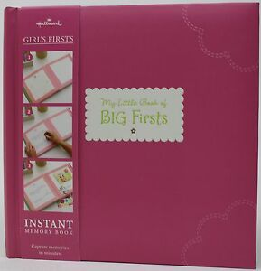 Hallmark-Baby-Girl-Pink-My-Little-Book-of-Big-First-Instant-Memory-Book-NWT
