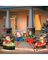 Sale Lighted Animated Santa Claus Carnival Rides Display Outdoor Christmas