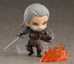 Anime Nendoroid 907 The Witcher 3 Wild Hunt Geralt PVC Figure New No Box 10cm