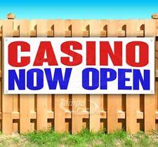 Casino Now Open Advertising Vinyl Banner Flag Sign Many Sizes