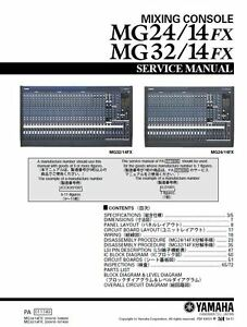 Yamaha mg24-14fx mg32-14fx mixing console service manual and.