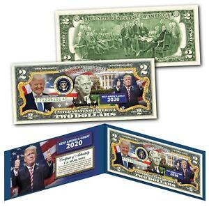 DONALD-TRUMP-Keep-America-Great-2020-Genuine-Legal-Tender-U-S-2-Bill-NEW