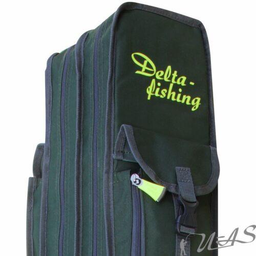 Delta Fishing Rutentasche 2 Fach 150 CM Angel Tasche Futteral Rutenfutteral Sha