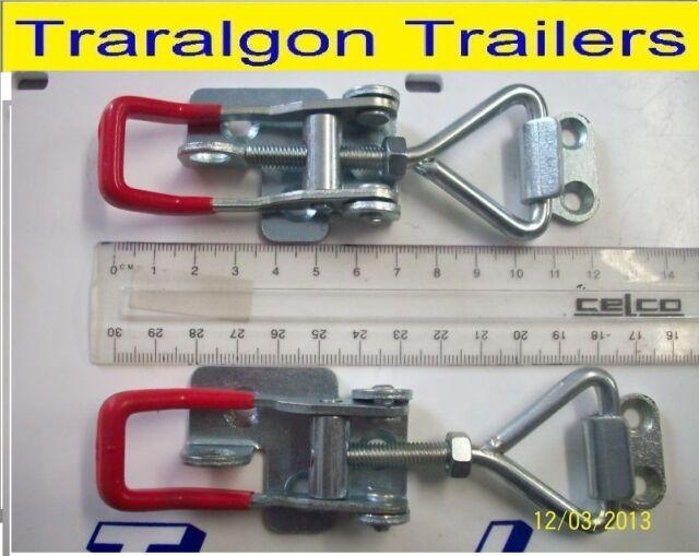 2x medium overcentre over centre latch toggle fastener for trailer, toolbox  M2